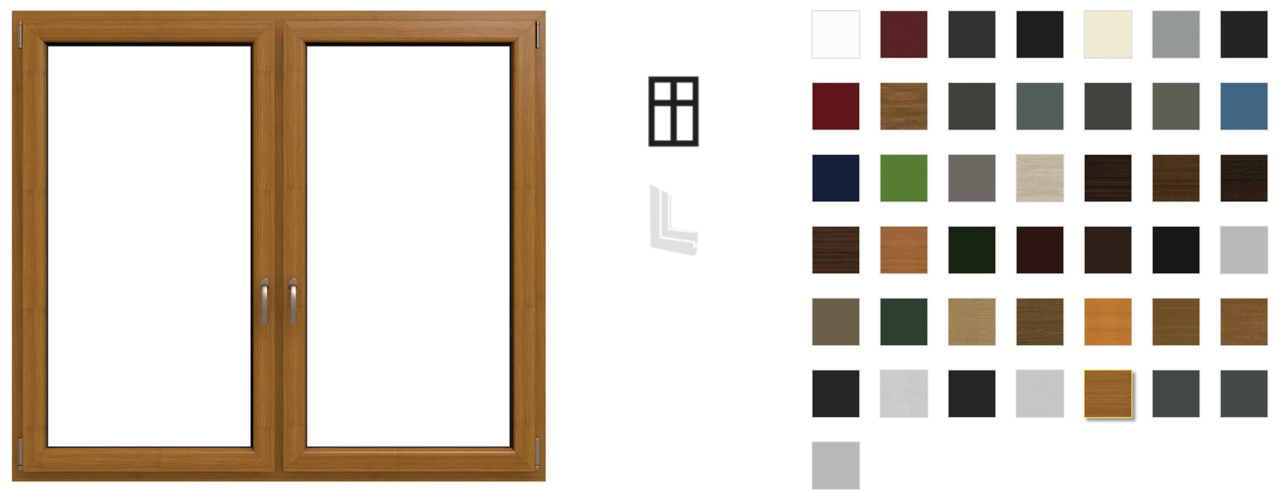 Colori disponibili infissi in pvc