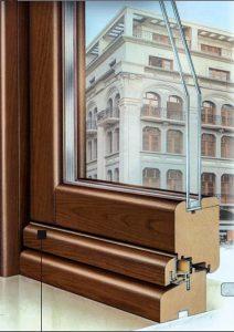 sezione infisso legno