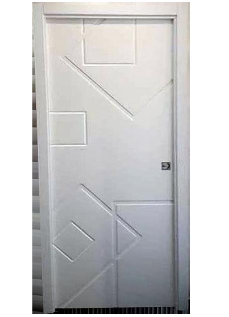 porta laccata bianca con riquadri